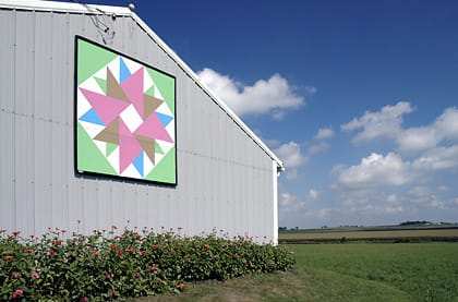 Gilbert & Mildred Burger | Black Hawk County Barn Quilts | Double Aster | Cedar Falls, Iowa