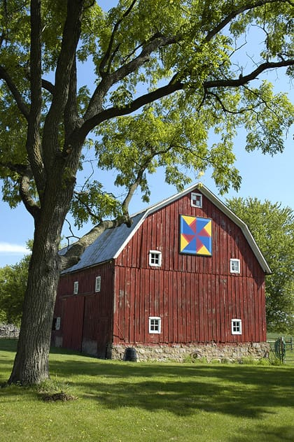 Joe and Theresa Bartholomew | Black Hawk County Barn Quilts | Windmill |Cedar Falls, Iowa