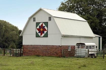 Kenny & Nancy McKenna | Black Hawk County Barn Quilts | Double Windmill | Cedar Falls, Iowa