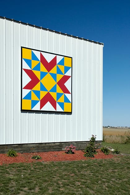 Ruth Beck | Black Hawk County Barn Quilts | Bird's Nest | Cedar Falls, Iowa