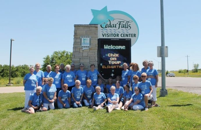 Photo of Chix on Tour! Call the Cedar Falls Tourism Bureau and we can help you with your next group tour to Cedar Falls!