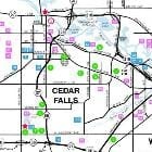 Tourism Points of Interest Map | Cedar Falls and Waterloo, Iowa