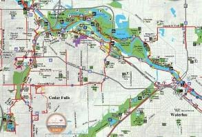 Paved Trail Map | Cedar Valley Trails | Cedar Falls, Iowa