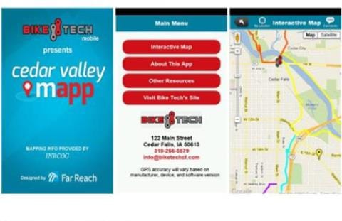 Map and Apps | Cedar Valley Trails | Cedar Falls, Iowa