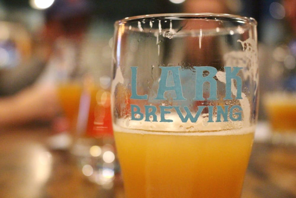 Lark Brewing in Waterloo, located below Beck's Taproom Grill.