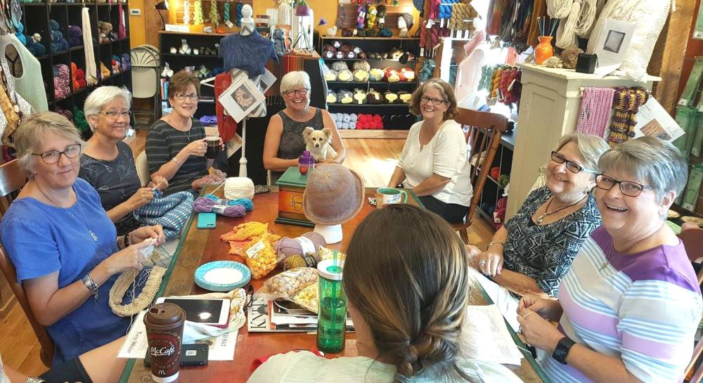 The Sheep Baatique in Cedar Falls offers classes and Knit & Wine Night.