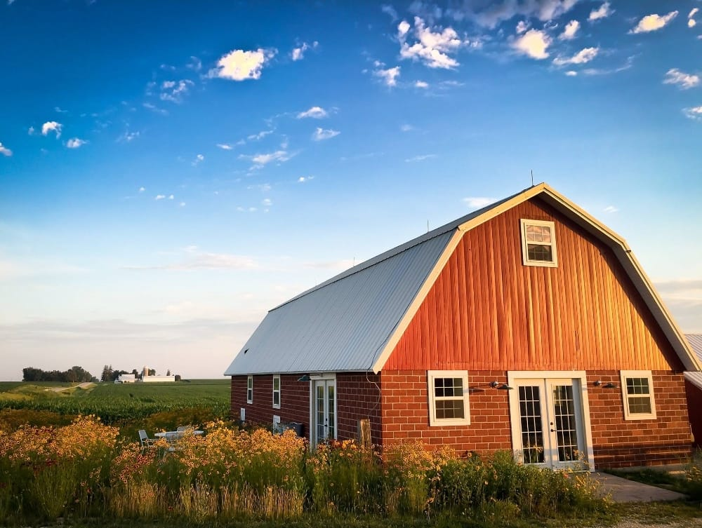 Artisans teach a variety of workshops in this renovated and charming barn at Three Pines Farm in Cedar Falls
