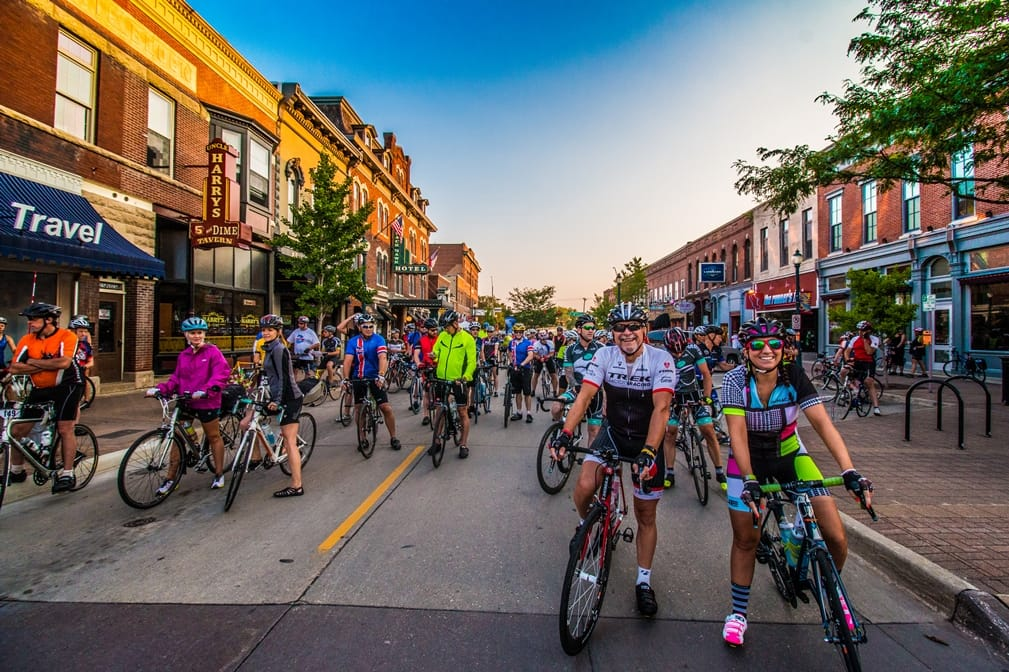Gran Fondo Cedar Valley is a bicycling endurance event, August 19, 2017, in Cedar Falls, Iowa.