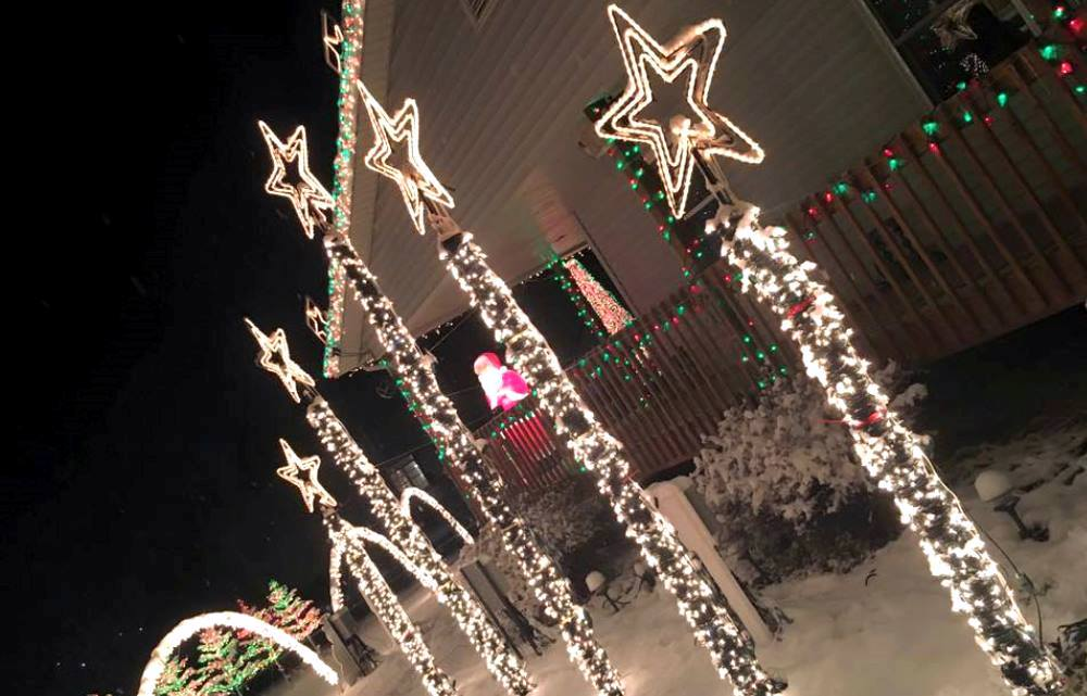 You can find holiday light displays within an hour's drive of Cedar Falls. Pictured is Waverly Lights!