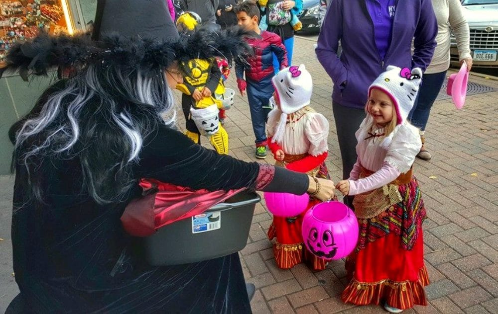 Trick-or-Treating downtown Cedar Falls October 31