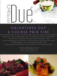 Cafe Due Valentine special
