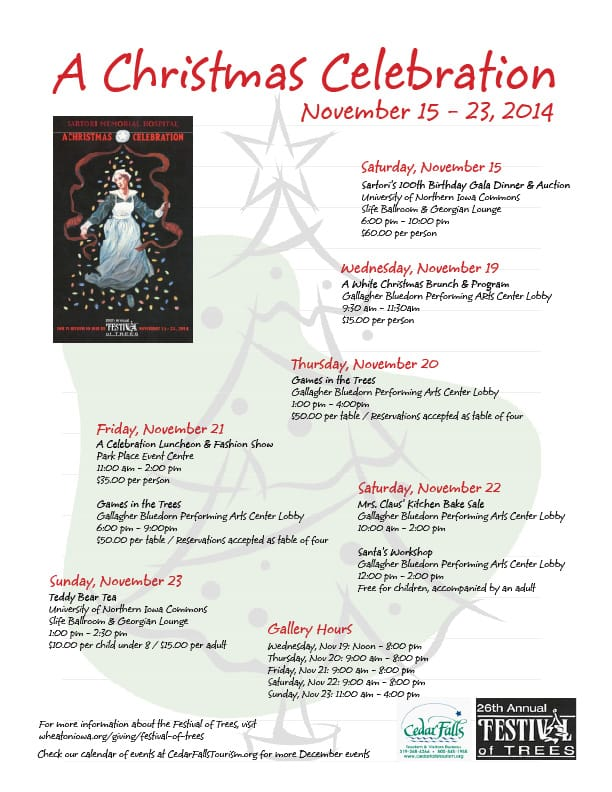 Festival of Trees schedule What's Hot 10.28.14