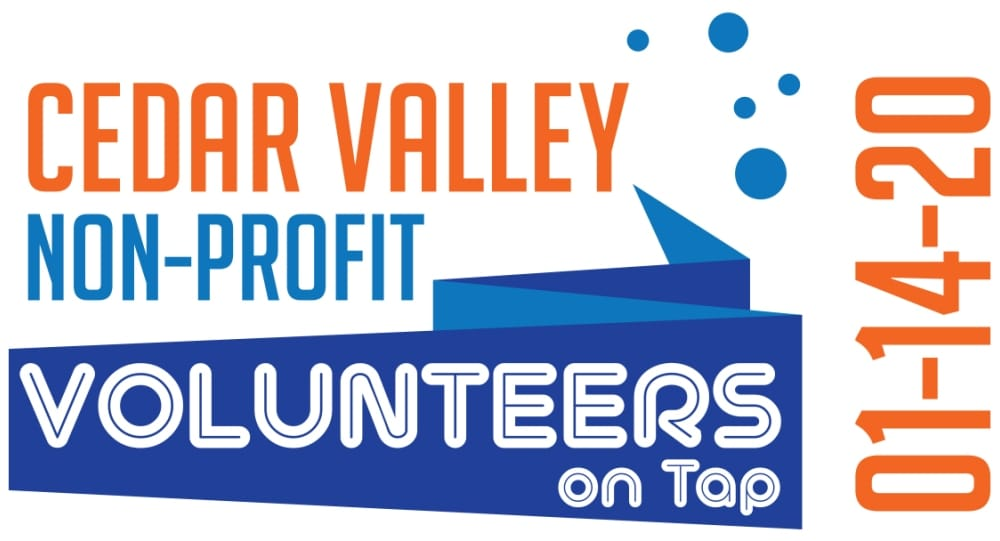 Cedar Valley Non-Profit Volunteers on Tap is January 14, 2020
