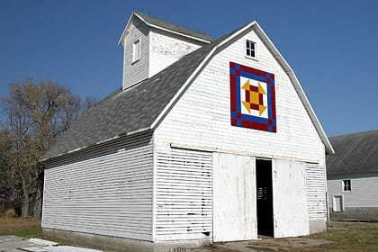 Harriett McMahill | Black Hawk County Barn Quilts | Modified Churn Dash | Cedar Falls, Iowa