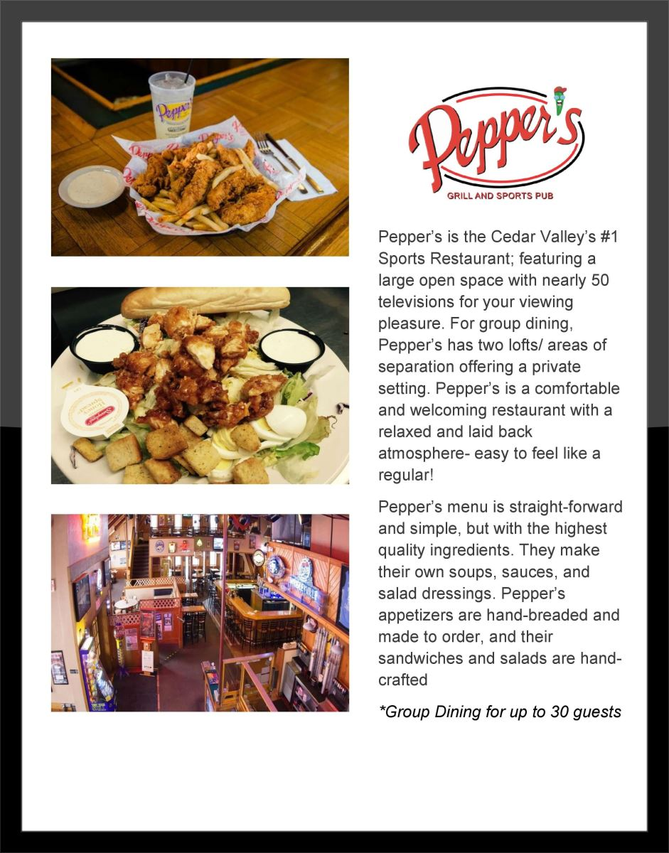 Pepper's Grill & Sports Pub | Group Dining