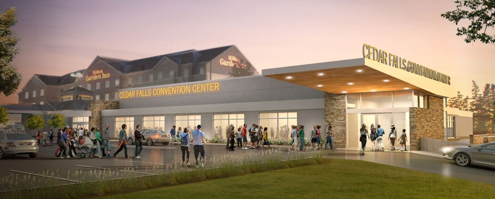 The Hilton Garden Inn is expanding their meeting space. The Cedar Falls Convention and Event Center will open in June of 2019