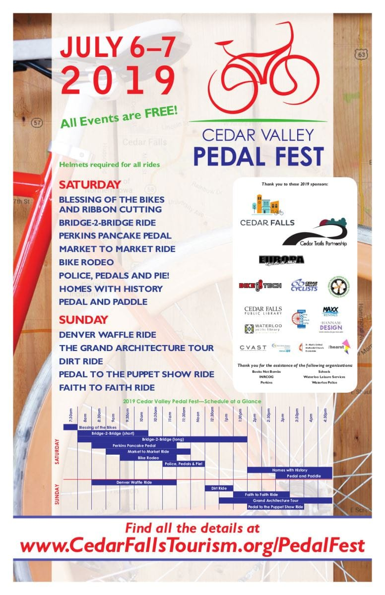 Pedal Fest 2019 is July 6 and July 7  |  Cedar Falls Tourism