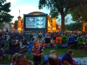 Enjoy Movies Under the Moon on select Fridays throughout the summer in Cedar Falls