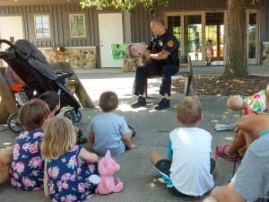 Story time at the Cedar Valley Arboretum and Botanical Garden in Waterloo