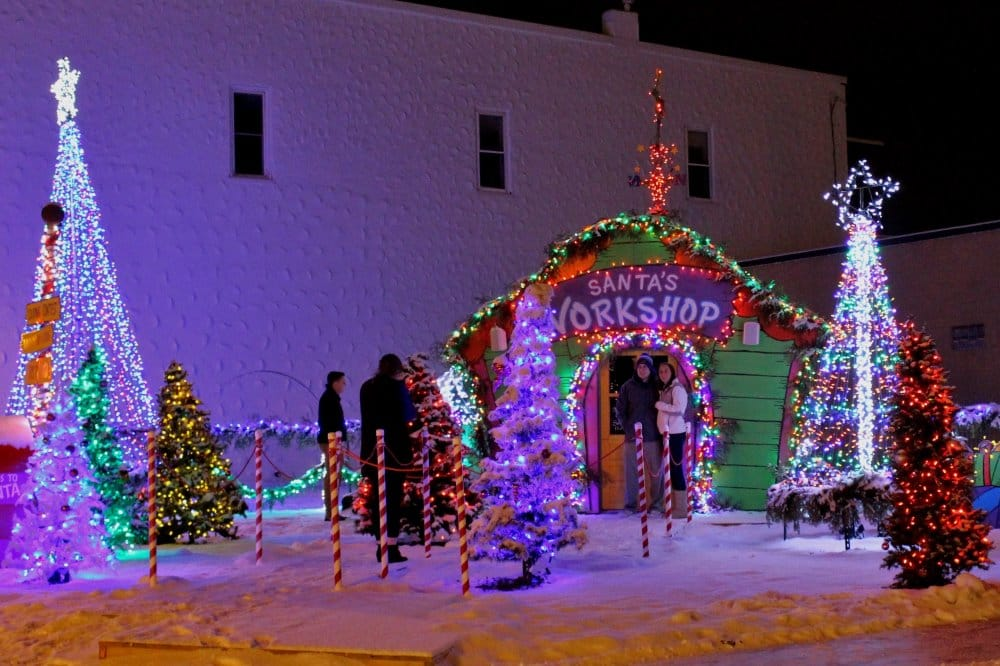 Holiday Hoopla in the Cedar Falls Downtown District - don't forget to visit Santa!