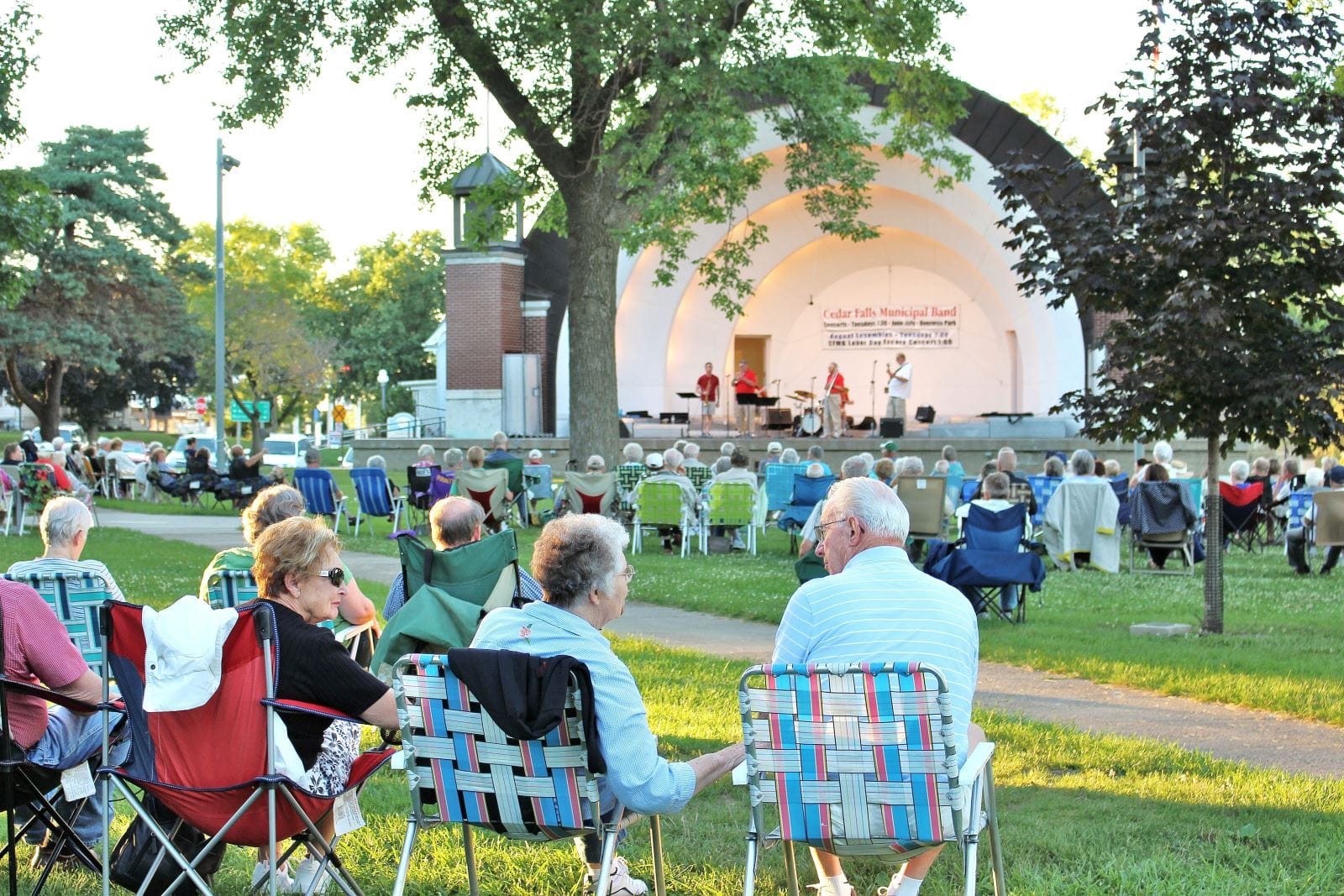 Cedar Falls Municipal Band concerts are Tuesday evenings in June and July at Overman Park