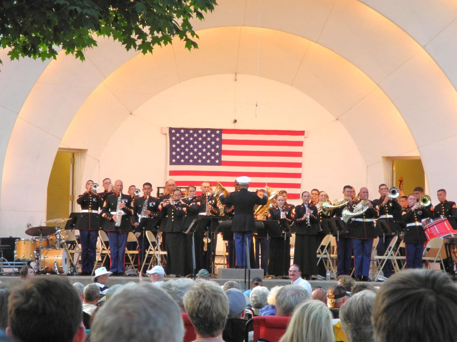 Crowds are always happy when the Parris Island Marine Band performs Saturday evening at our Sturgis Falls Celebration in June
