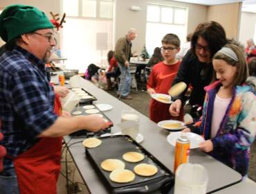 Holiday Hoopla Breakfast at the North Pole | downtown Cedar Falls, Iowa