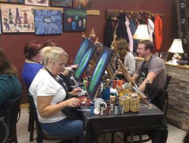 Get Creative at Cedar Valley Art & Wine | downtown Cedar Falls, Iowa