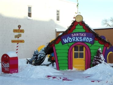 Santa's Workshop Holiday Hoopla | downtown Cedar Falls, Iowa