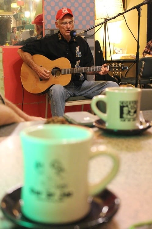 Dave Malam performs at Cup of Joe in Cedar Falls, Iowa