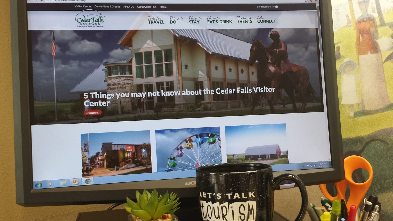 Our Website is All New! Sept 2015 | Cedar Falls Tourism Blog | Cedar Falls, Iowa